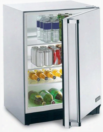 L24ref 5.5 Cu. Ft. Outdoor Refrigerator With Seamless Stainless Steel Cabinet And