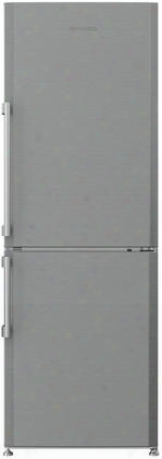 "Brfb1044ss 24"" Bottom Freezer Refrigerator With 12 Cu. Ft. Capacity Hygiene+ Antibacterial Seal Nofrost Technology Duocycle And Led Lighting In Stainless"