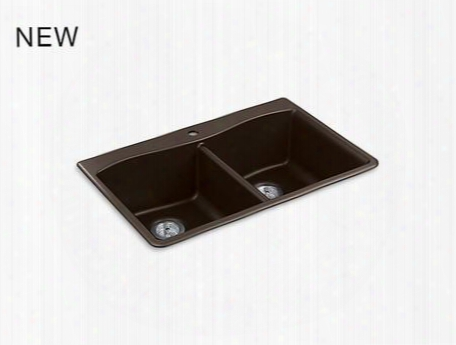 K81851cm2 Under Mount Double Equal Kitchen Sink In Matte