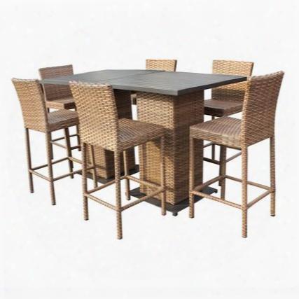 Laguna-pub-kit-6 Laguna Pub Table Set With Barstools 8 Piece Outdoor Wicker Patio