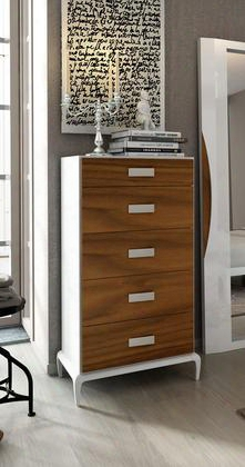 """Malaga Collection I17819 26"""" Chest With 5 Drawers Tapered Legs And Wood"""