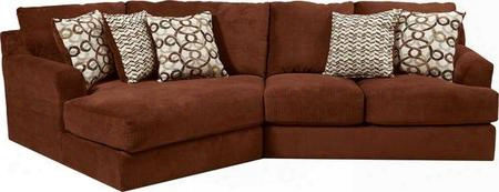 """Malibu Collection 3239-92-42-2668-44/2693-44/2694-44 135"""" 2-piece Sectional Sofa With Left Arm Facing Piano Wedge And Right Arm Facing Loveseat With Chenille"""