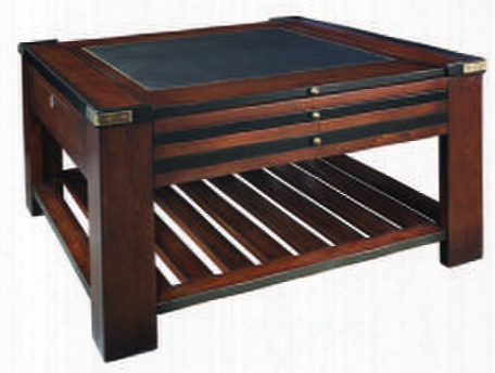 "Mf020 Game Table Black 31.5"" With Cherry Mdf W/cherry Veneer & Pine Material In Black & Honey Distressed French"