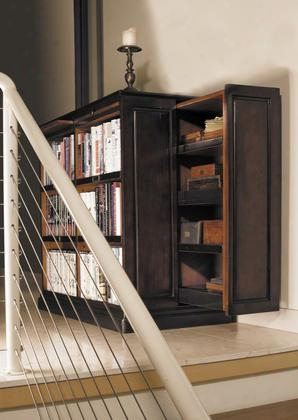 "Mf116 Alchemist's Bookcase 19.75"" With Maple Pine Mdf W/veneer Plywood & Brass Material In Black & Pine/ Honey Distressed French"