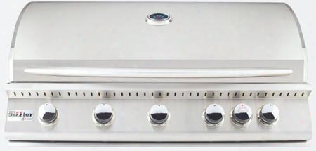 "Siz40-lp 32"" Sizzler Series Liquid Propane Built-in Grill With 5 Stainless Steel Tube Burners 985 Sq. In. Cooking Surface Flame Thrower Ignition And Easy"