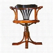 """MF081 Purser's Chair Black 24"""" with Maple & Plywood Material in Black & Honey Distreseed French"""