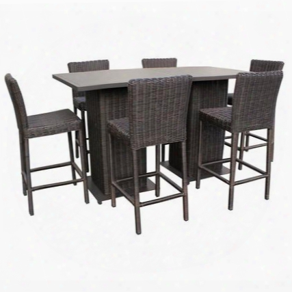 Venice-pub-kit-6 Venice Pub Table Set With Barstools 8 Piece Outdoor Wicker Patio