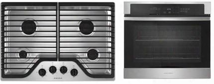 "2-piece Kitchen Package With Agc6540kfs 30"" Gas Cooktop And Awo6317sfs 27"" Electric Single Wall Oven In Stainless"