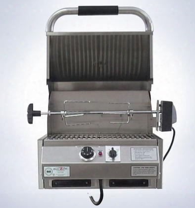 "4400ec224im16 16"" 4400 Series Marine Built-in Electric Grill With 224 Sq. In. Cooking Surface Warming Rack Removable Grease Trays Timer And Stainless Steel"