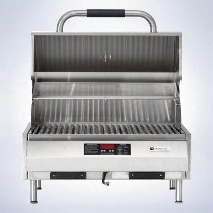 "4400ec224tt16 4400 Series 16"" Tabletop Grill With 224 Sq. Inches Grilling Surface Digital Controls 18 Gauge Stainless Steel Construction Adjustable"