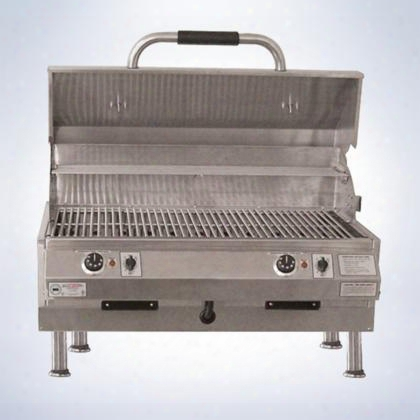 "4400ec448ttd32 4400 Series 32"" Table Top Grill With Dual Temperature Control 448 Sq. Inches Of Grilling Surface 18 Gauge Stainless Steel Digital Controls"