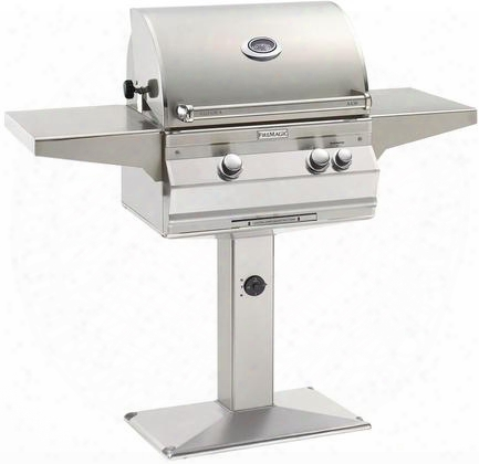 "A430s6a1pp6 56"" Patio Post Mount Grill With 432 Sq. Inches Cooking Surface 192 Sq. Inches Warming Rack Surface Rotisserie All Infrared Burners 50000 Btu"