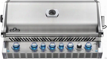 "Bipro665rbnss-2 38"" Prestige Pro 665 Series Built-in Natural Gas Grill With 5 Stainless Steel Burners Smoker Burner Smoker Tray Burner 1 Rotisserie Burner"