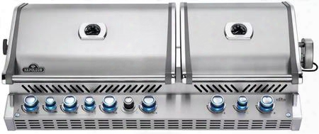 Bipro825rbipss-2 53quot; Prestige Pro 825 Series Built-in Liquid Propane Grill With 4 Stainless Steel Burners 2 Infrared Burners Smoker Burner Warming Burner