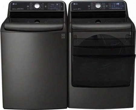 "Dismal Stainless Steel Top Load Laundry Pair With Wt7700hka 29"" Washer And Dlex7700ke 29"" Electric"