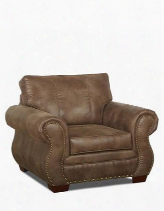 """Blackburn Collection K14310-c-pt 43"""" Chair With Rolled Arms Nail Head Trim And Polyester Fabric Upholstery In Padre"""