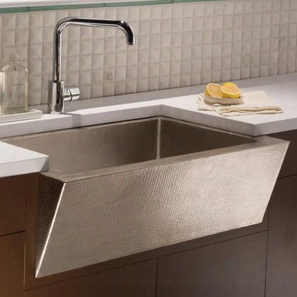 "Copper Kitchen Sinks Collection Cpk590 33"" Zuma Kitchen Sink With 3.5"" Drain Opening Single Bowl Apron Front Installation And Recycled Copper Material In"