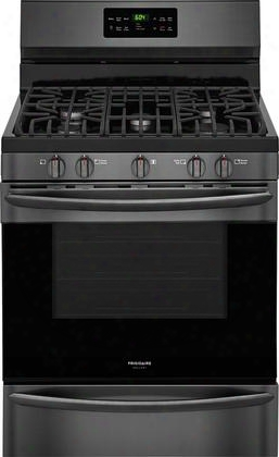 "Fggf3036td 30"" Gallery Series Gas Range With 5.0 Cu. Ft. Capacity Fan Convection Steam Clean In Black Stainless"