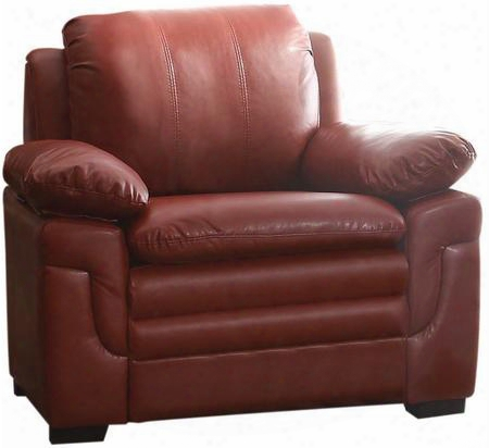 G289-c 40q&uot; Chair With Removable Backs Pillow Top Arms Wood Frame Construction And Faux Leather Upholstery In Red