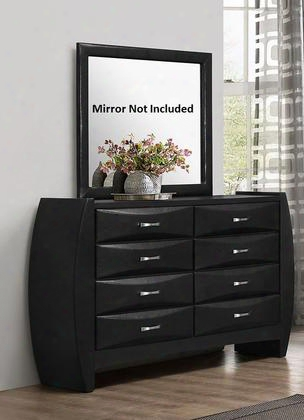 "G2900-d 64"" Dresser With 8 Drawers Beveled Drawer Fronts Metal Hardware And Wood Construction In Black"