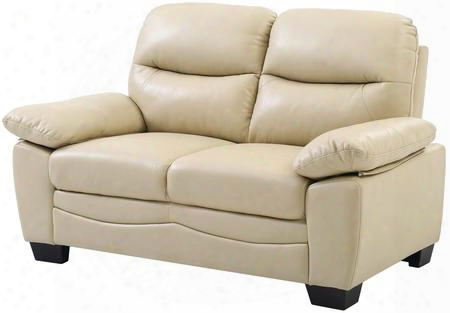"""G680-l 59"""" Loveseat With Removable Backs Split Back Cushion Pocket Coil Spring Seating Tapered Legs Plush Padded Arms And Soft Faux Leather Upholstery In"""