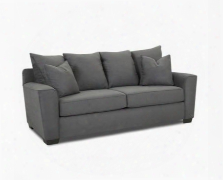 "Heather Collection E56044-s-mcha 86"" Sofa With Track Arms Four Back Pillows Two Arm Pillows And Fabric Upholstery In Microsuede"