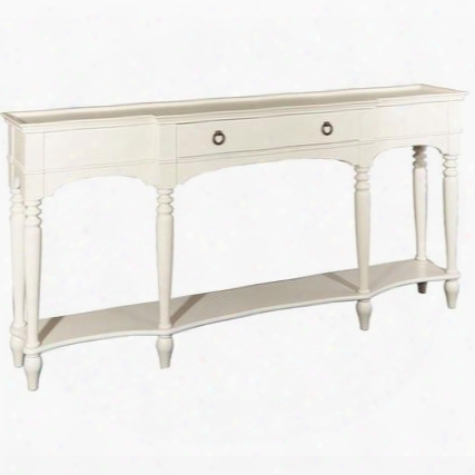 "Henley Collection D1015a16w 72"" Console With One Drawer Bottom Shelf Breakfront And Turned Legs In"