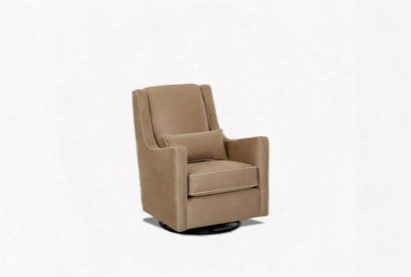 "Landis Collection N-13-swgl-mk-mo 31"" Swivel Glider With Track Arms Arm Pillow And Polyester Fabric Upholstery In Microsuede"