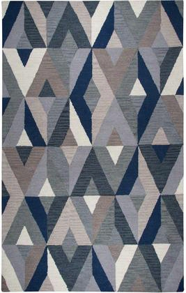 Rugs Collection 970199l 8' X 10' Large Area Rug With 100% Premium Hand Dyed Blended Wool Geometric Pattern Hand Crafted In India Cut And Loop Pile In Blue