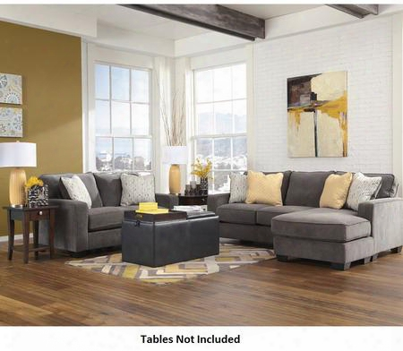 Signature Design By Ashley Hodan Fsd-7979set-mbl-gg 2 Pc Living Room Set With Sofa Chaise And Loveseat In Marble