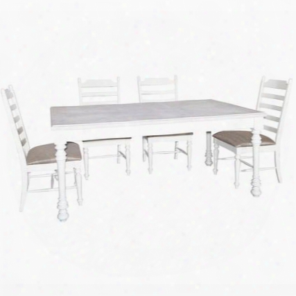 Slater Collection D1032d16 5-piece Dining Room Set With Extendable Dining Table And 4 Side Chairs In