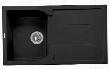"AB1620DI-BLA 34"" Single Bowl Kitchen Sink with Drain board Granite Composite and Drop-In Installation Hardware in"