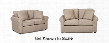 Brighton Collection 24900KL2PCQSTLKIT1 2-Piece Living Room Sets with Sofa Beds and Loveseat in Microsuede