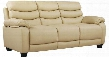 "G564-S 77"" Sofa with Removable Back Tapered Block Legs Pub Back Plush Padded Arms and Faux Leather Upholstery in Beige"