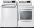 "White Top Load Laundry Pair with WT7200CW 27"" Washer and DLG7201WE 27"" Gas"
