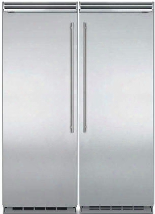 "60"" Built-in Side-by-side Refrigerator Column Set With Mp30ra2rs 30"" Right Hinge Refrigerator And Mp30f2als 30"" Left Hinge Freezer In Stainless"