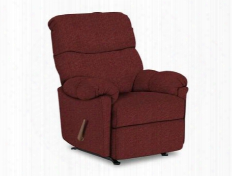 Balmore Collection 2nw64-19648 Space Saver Recliner With Pillow Top Arms Split Back Cushion And Chenille Upholstery In Ruby