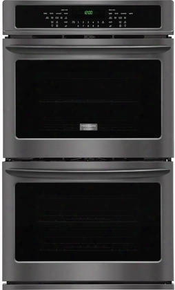 "Fget3065pd 30"" 9.2 Cu. Ft. Double Electric Wall Oven With True Convection Even Baking Technology Steam Cleaning Delay Start Power Broil One-touch Options"