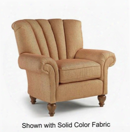 Marlow Collection 7020dp-25038 Accent Chair With Distressed Pecan Finish Channel Back And Large Rolled Arms In Sable