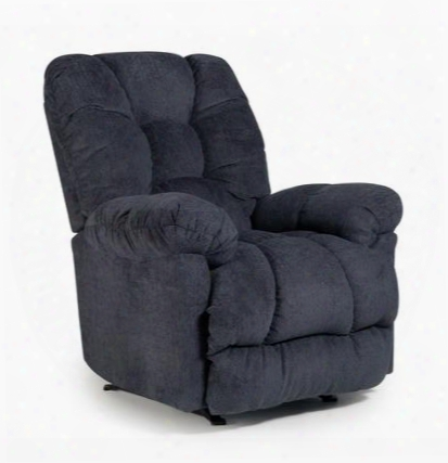 Orlando Colletion 6np44-19072 Power Space Saver Recliner With Plush Padded Arms Chenille Cover And Stitching Details In Regatta