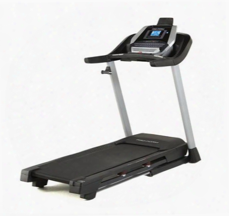 "Pftl60916 505 Cst Treadmill With 2.5 Chp Drive System Space Saver Design 5"" Backlit Ifit Display Ekg Grip Pulse 18 Preset Workout Apps And Ipod Compatible"