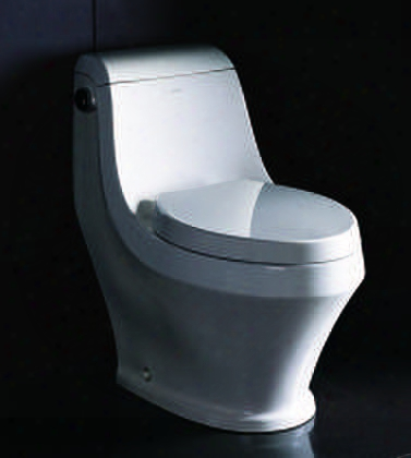 """Tb133 29"""" Ceramic Toilet With Porcelain Single Flush 1.28gpf Sleek Modern Design And Fully Glazed Inside And Out In"""
