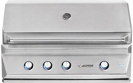 """Tebq42rs-cn 42"""" Built-in Grill With 3 Main Burners 75000 Total Btu 760 Sq. In. Cooking Surface High-quality Ceramic Briquettes Hexagonal Grates Hood"""