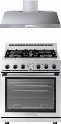 "2-Piece Stainless Steel Kitchen Package with RN301GPSS 30"" Natural Gas Range and HP301SSS 30"" Range"