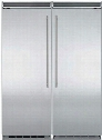 """60"""" Built-In Side-by-Side Refrigerator Column Set with MP30RA2RS 30"""" Right Hinge Refrigerator and MP30FA2LS 30"""" Left Hinge Freezer in Stainless"""