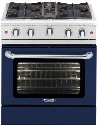 "MCOR304DN 30"" Culinarian Series Natural Gas Range with 4 Sealed Burners 4.9 cu. ft. Oven Capacity with Convection and Flush Island Trim in Cobalt"