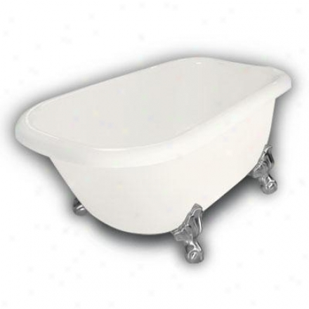 American Bath Factory B1-2540-bb-dm7-m2-l5-sn Jester Traditional Clawfoot Bathtub In Bisque, Ball An