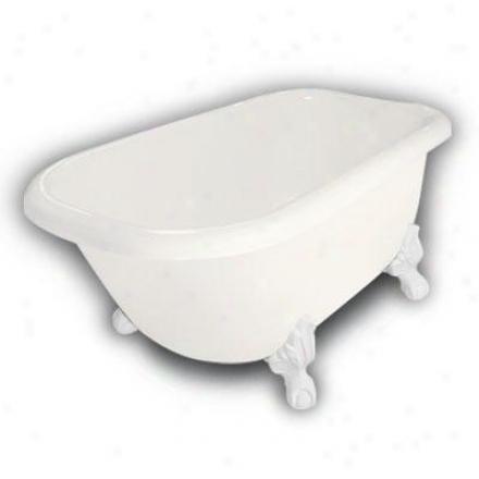 Amerkcan Bath Factory B1-2540-bb-tm3-m2-15-wh Jester Traditional Clawfoot Bathtub Ih Bisque, Ball An