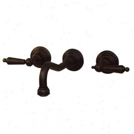 American Bath Factory F2-3330-oc-f9-3100-ml-oc F2-3330 Wall Moumt Long Neck Faucet, Metal Lever Ii H