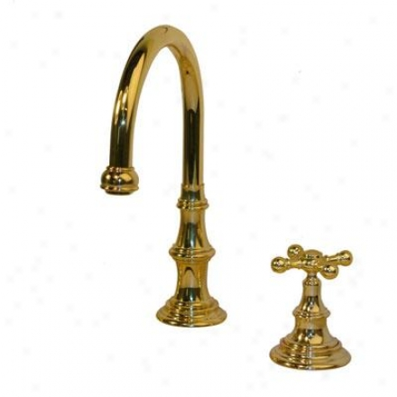 American Bath Factort F2-3420-pb-f9-3410-sx-pb F2-3420 Goose Neck Faucet, Polished Brass